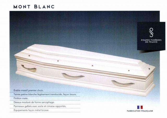 Cercueil Inhumation Mont-Blanc